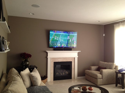 Wall Decor For Either Side Of The Fireplace W Mounted Tv