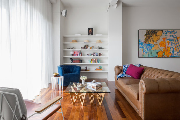 Transitional Living Room by Georgia Cannon