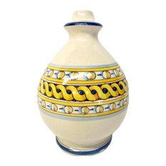 Tuscan Ceramiche d'Arte Tuscia Lamp Base With Geometric Design