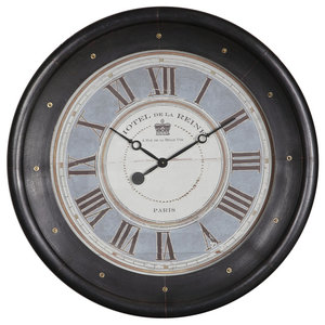 Crowe Metal Wall Clock Traditional Wall Clocks By