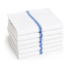 Premia Stripe Dish Towels, Set of 6, Blue