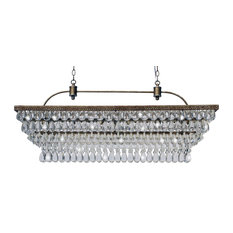 "Lightupmyhome Weston 40"" Rectangular Glass Drop Chandelier"