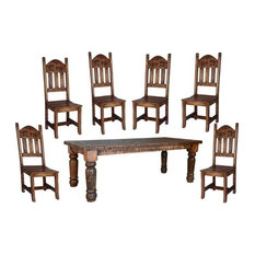 Rustic Dining Table, 7-Piece Set