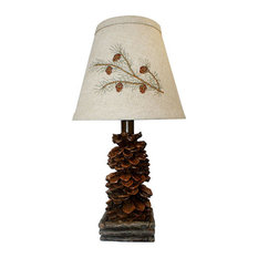 50 most popular rustic table lamps for 2018 houzz west highland group pinecone accent lamp table lamps aloadofball Choice Image