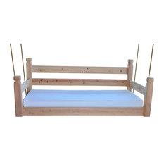 Original Crib Swingbed, Painted Clay Pot, Crib, Cypress Wood