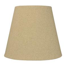 """Empire Sand Linen Edison Clip Premium Lampshade 5""""x8""""x7"""""""