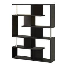 Coaster Modern Black Finish Bookcase