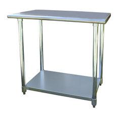 sportsman series   sportsman series kitchen island stainless steel work table 24x36 inches   kitchen islands 36 inch kitchen islands  u0026 carts   houzz  rh   houzz com