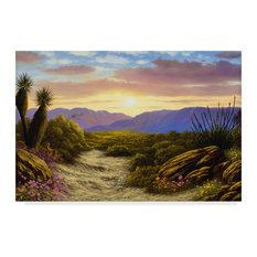 """Desert Scene"" by Anthony Casay, Canvas Art, 16""x24"""