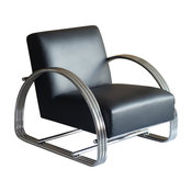 Pasargad Home Concord Modern Lounge Chair, Black