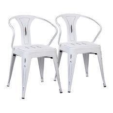 Austin Industrial Set of 2 Chairs DC-WCO VW2, Vintage White