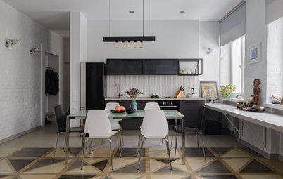 Проект недели: 30 кв.м. — кухня-гостиная с открытой кладкой