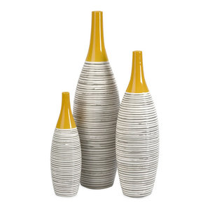 IMAX Corporation Andean Multi Glaze Vases (Set of 3)