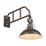 Industrial Wall Lamp Weathered Rust with Swivel Arm - Manhattan