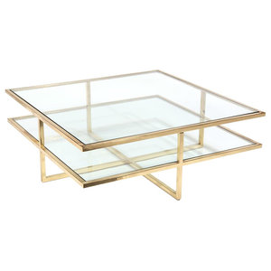 Miraculous Louisa Coffee Table In Stainless Steel And Glass Hexagon Andrewgaddart Wooden Chair Designs For Living Room Andrewgaddartcom