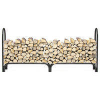 Regal Flame 8 ft Heavy Duty Firewood Shelter Log Rack for Fireplaces & Firepits