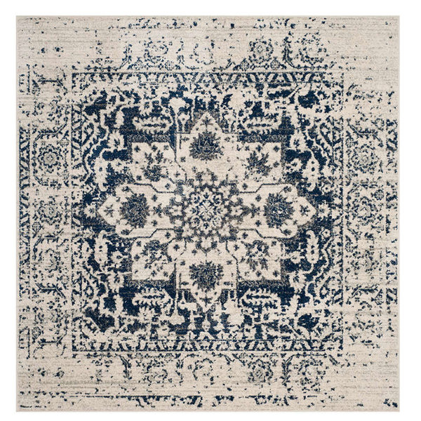 Madison Mad603D Rug, Cream/Navy, 9'0