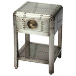 Butler Yeager Aviator Storage Bench Industrial Accent