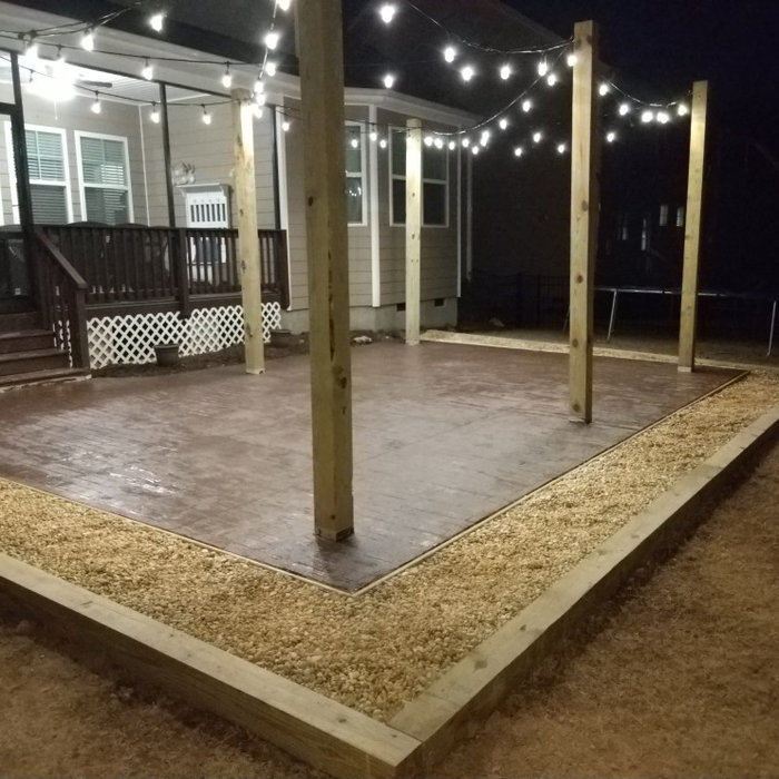 patio installation and bistro lighting