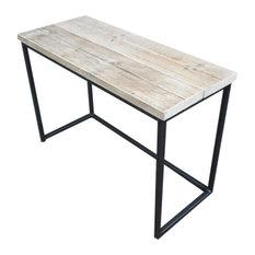 Standard Reclaimed Wood Desk, Unpainted Steel, Small