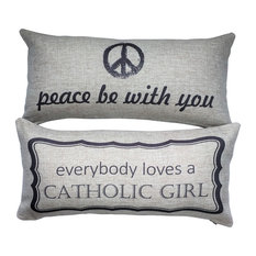 Catholic Girl/Peace Be With You Pillow Baptism First Communion Confirmation