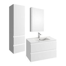 Como Bathroom Set, White
