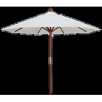 9' Square Push Lift Wood Umbrella, Natural Sunbrella