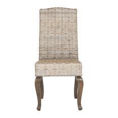 Safavieh   Milos Wicker Dining Chair (Set Of 2)   Dining Chairs