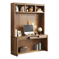 Parker House Hickory Creek 63 In Wall Desk With Hutch In Honey By Parker  House