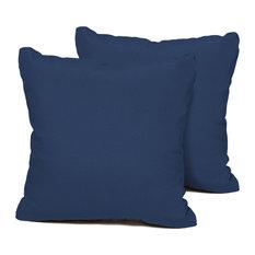 Square Outdoor Patio Pillows, Navy