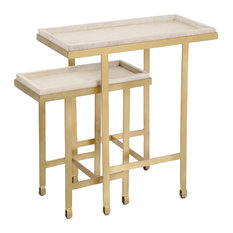 2-Piece Willowbrook Rolling Accent Table Set by Renwil