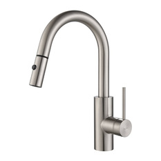 Kraus Usa Mateo Single Lever Pull Down Kitchen Faucet Stainless Steel Kitchen