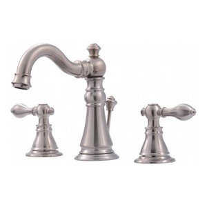 Ultra Faucets UF55113 2-Handle Lavatory Faucet With Pop-Up Drain, Brushed Nickel