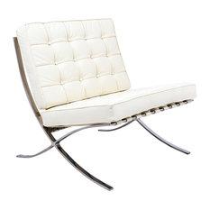 Melba Lounge Tufted Modern Chair, Cream