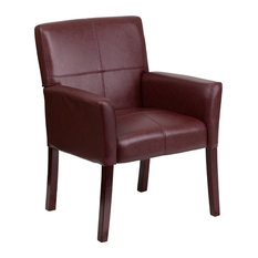 Superb Flash Furniture   Leather Side Chair With Mahogany Legs, Burgundy    Armchairs And Accent Chairs