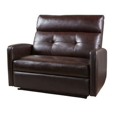 GDFStudio   Hana Soft Brown Leather 2 Seat Recliner   Recliner Chairs