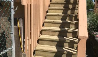 Rebuilt stairs