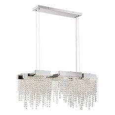Quoizel Platinum Collection Crystal Falls LED Island Light, Polished Nickel