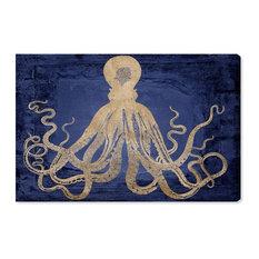 """""""Deep Water Squid"""" Canvas Art Print, 10x15 cm"""
