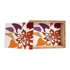 Deny Designs Karen Harris Constance In Orange Blossom Storage Box