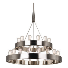 Robert Abbey Rico Espinet Double Candelaria Chandelier, Brushed Nickel