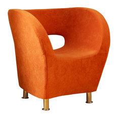 GDF Studio Salazar Modern Design Accent Chair, Orange