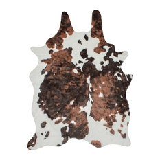 el paso faux cowhide rug cream and dark brown 5u0027x8