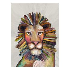 """Wild Lionon Cream"" Canvas Wall Art by Eli Halpin, 18""x24"""