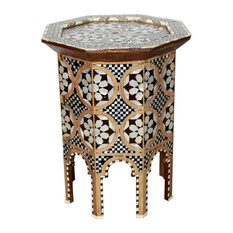 High Quality Badia Design Inc.   Moroccan Mother Of Pearl Side Table   Side Tables And  End