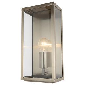 Mersey Outdoor Lantern Wall Light, Stainless Steel