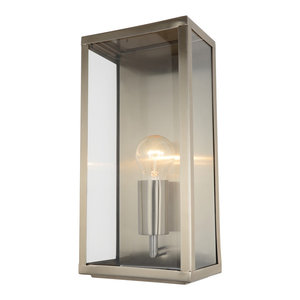 Mersey Outdoor Lantern Wall Light, Stainless Steel