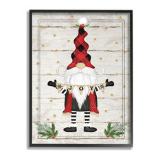 Whimsical Holiday Gnome with Winter Joy Sentiments16x20