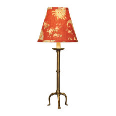 Tripod Accent Lamp with Crimson Paisley Shade