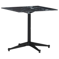 """Eames Outdoor Table, 30"""" Square by Herman Miller, Wisconsin Black Marble"""
